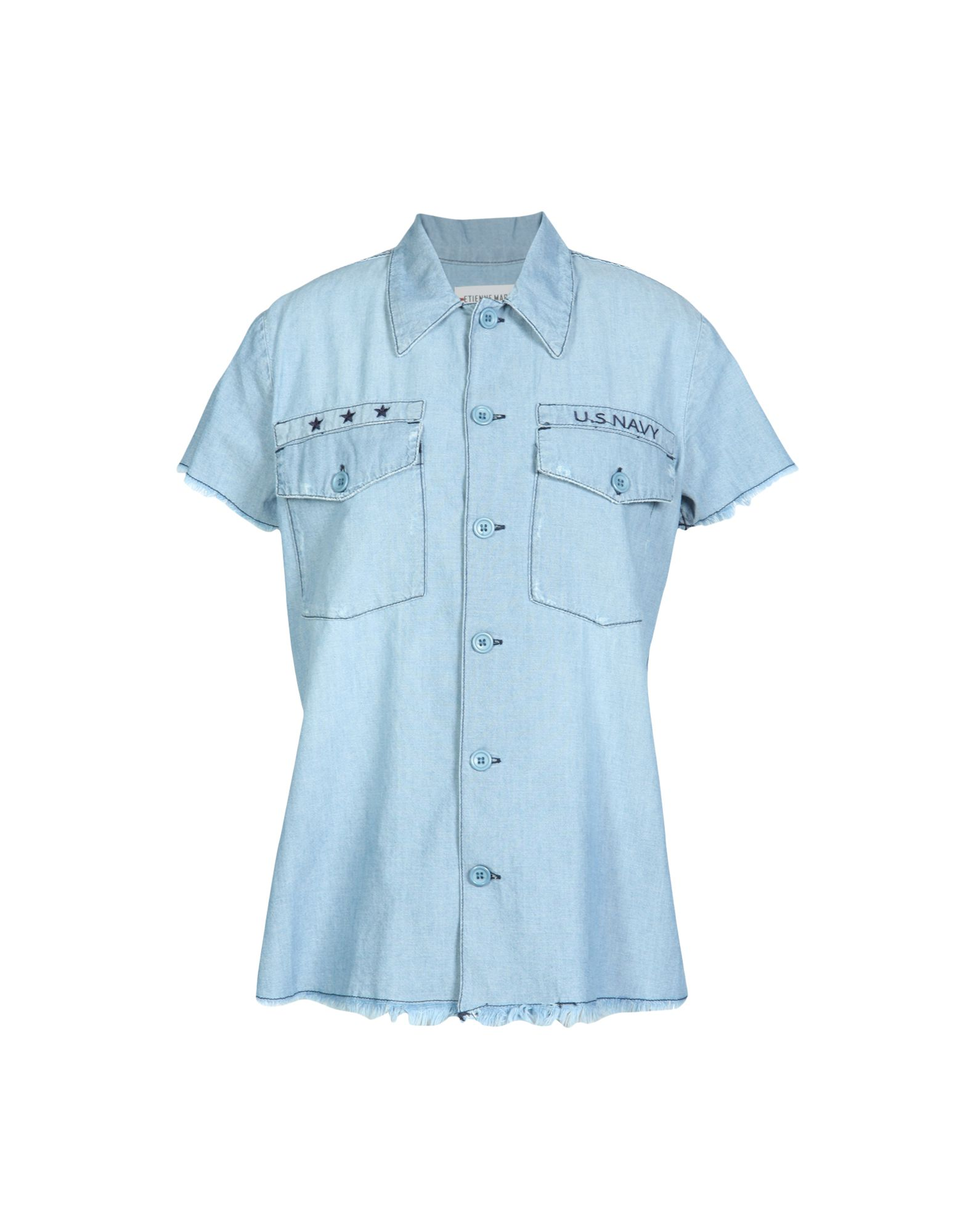 ETIENNE MARCEL Denim Shirts in Blue