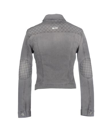 Фото 2 - Джинсовая верхняя одежда серого цвета