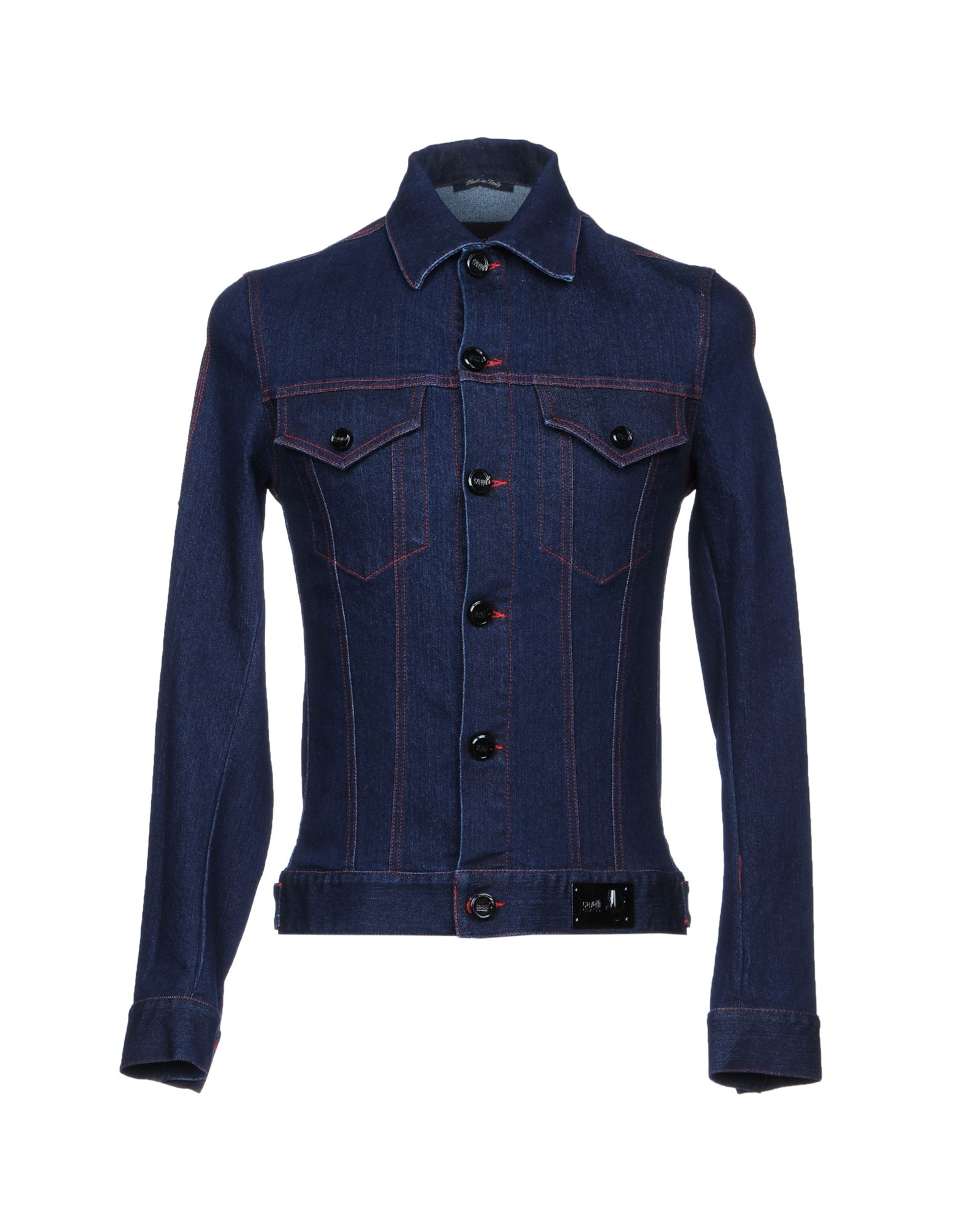 CLASS ROBERTO CAVALLI Джинсовая верхняя одежда just cavalli джинсовая верхняя одежда