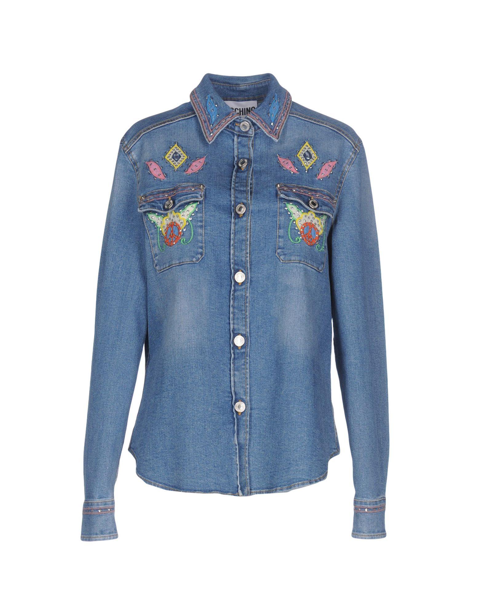MOSCHINO Джинсовая верхняя одежда цена 2017