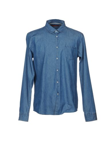Фото - Джинсовая рубашка от INDIVIDUAL синего цвета