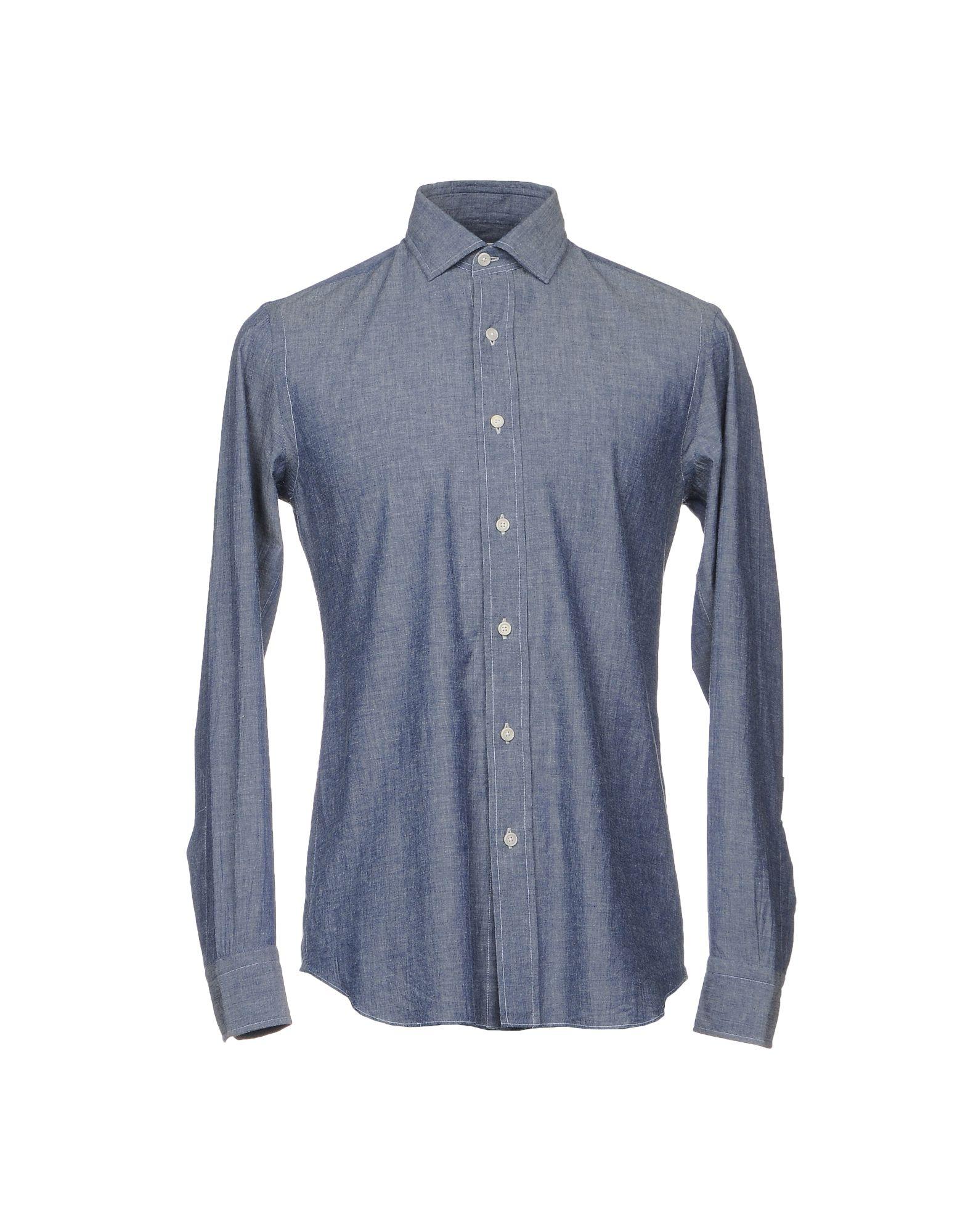 SALVATORE PICCOLO Джинсовая рубашка цена 2017