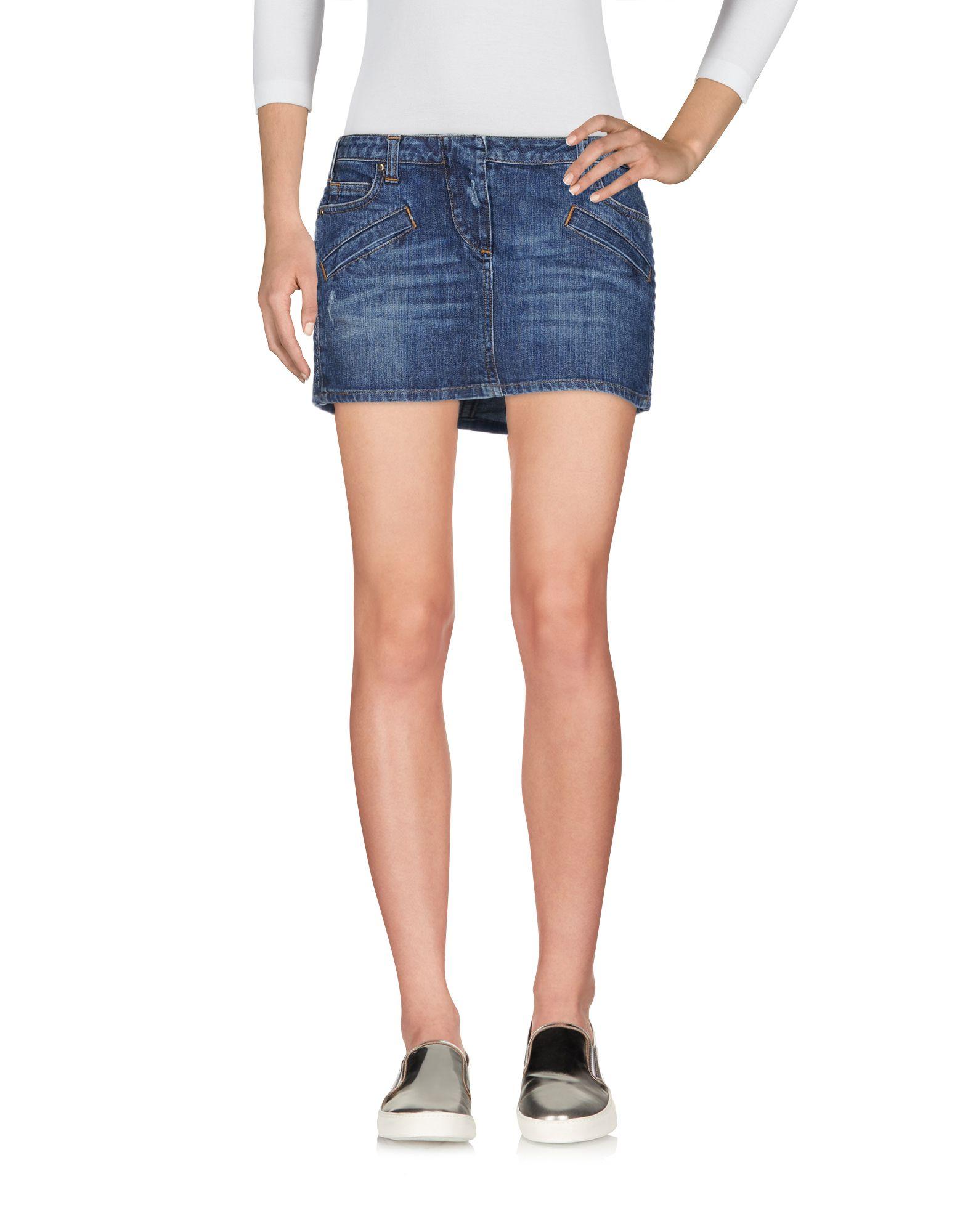 цена PIERRE BALMAIN Джинсовая юбка онлайн в 2017 году