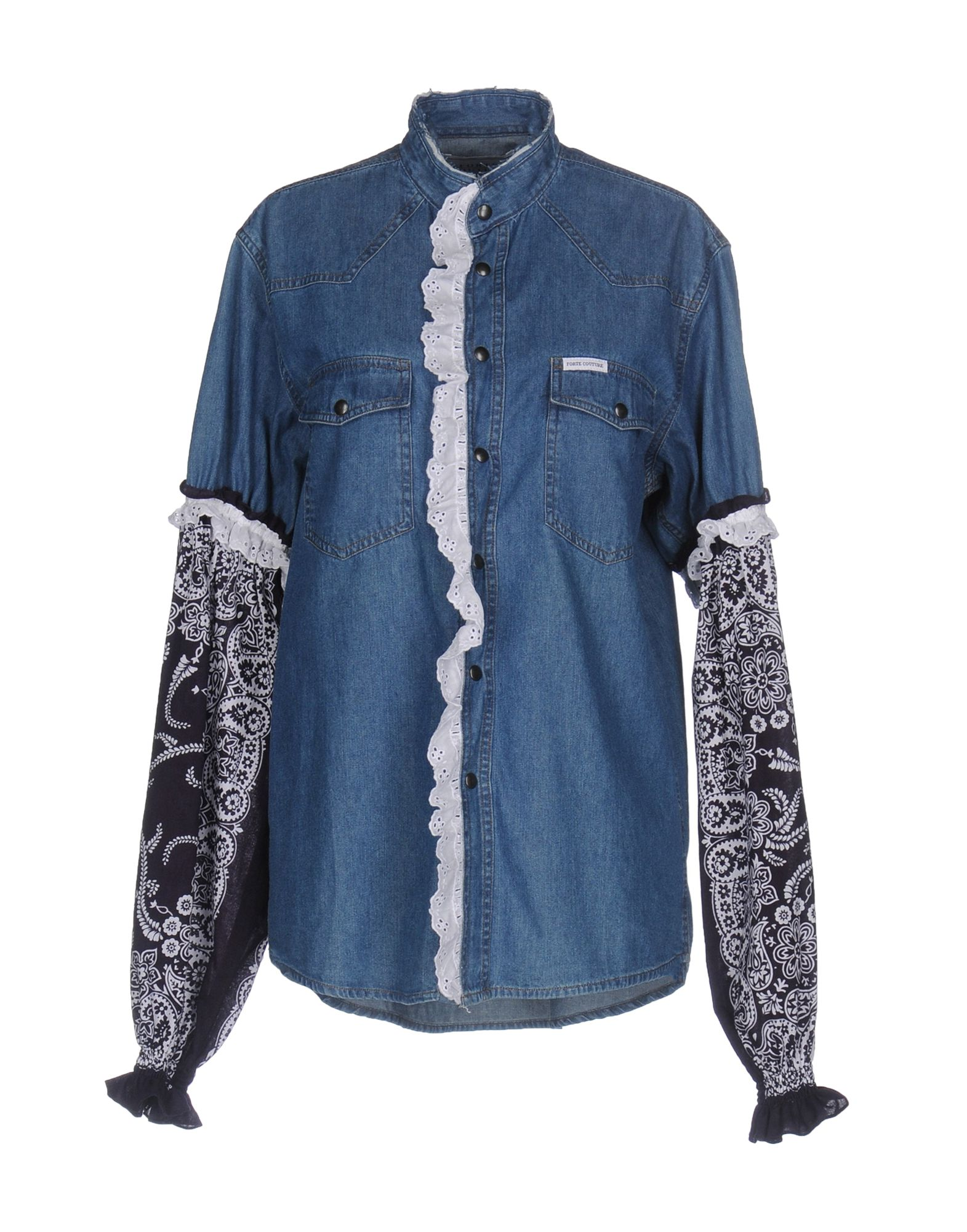 FORTE DEI MARMI COUTURE Джинсовая рубашка forte dei marmi couture джинсовая рубашка
