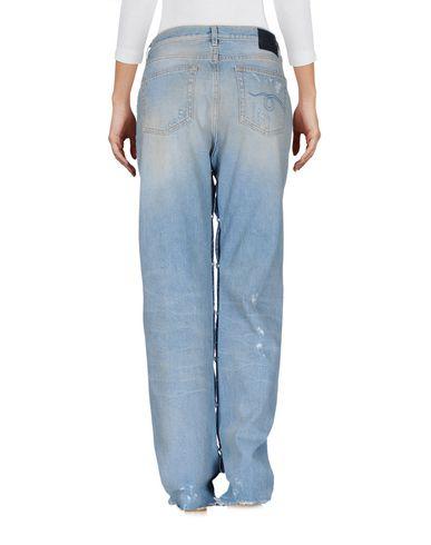 Фото 2 - Джинсовые брюки от R13 синего цвета
