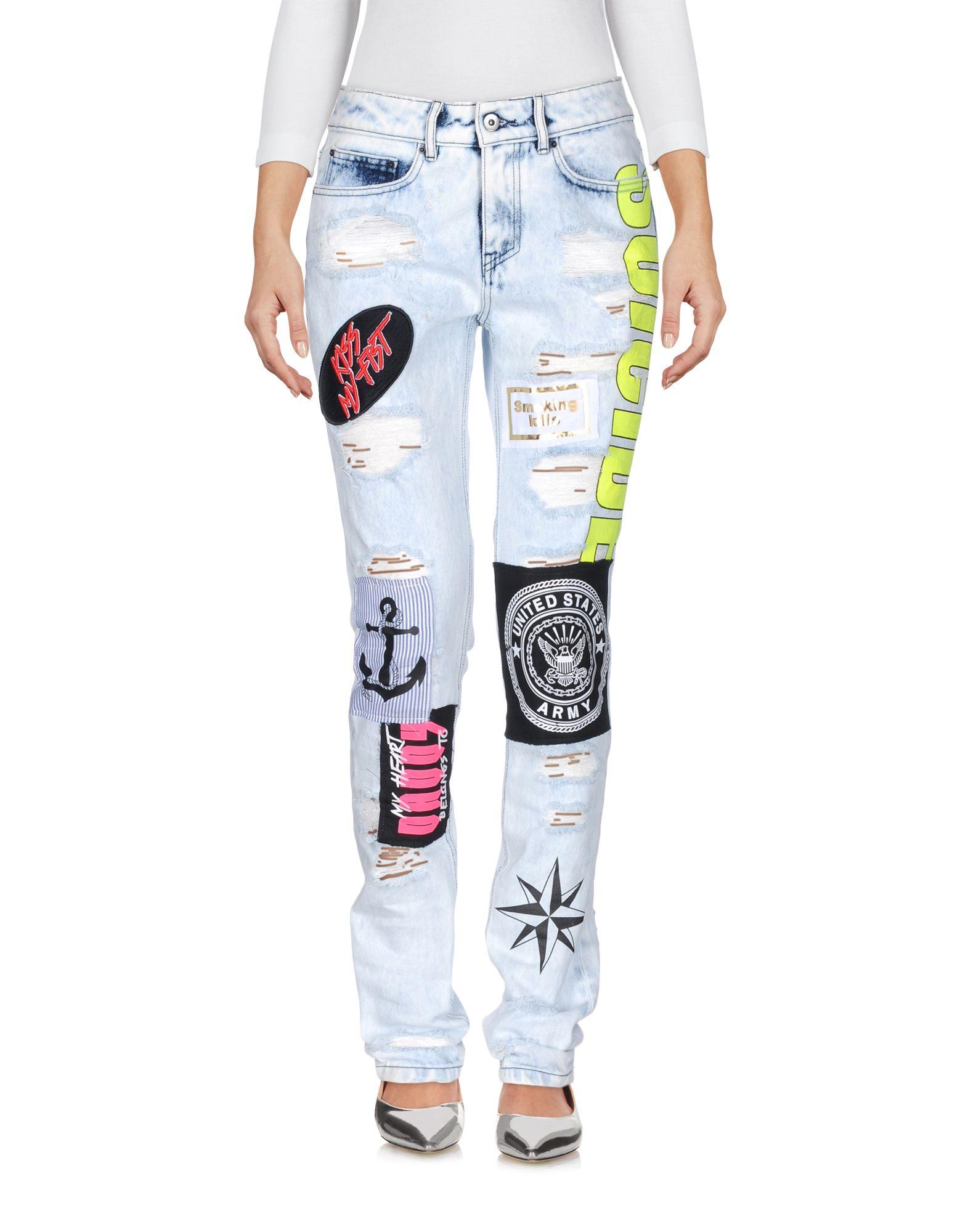 FAP FILLES A PAPA Джинсовые брюки бордюр fap pura celeste matita 2x56