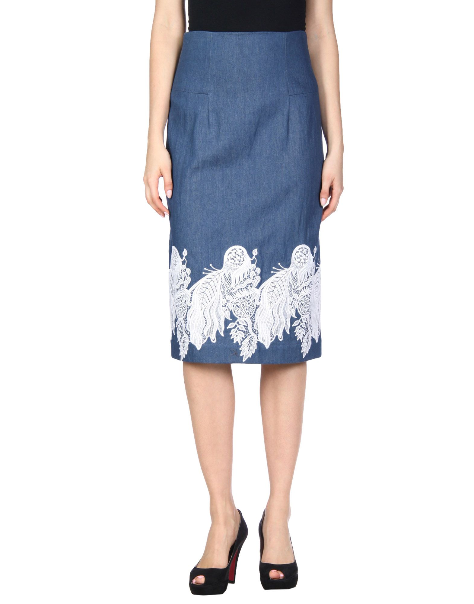 CREATURES OF THE WIND Denim Skirt in Blue