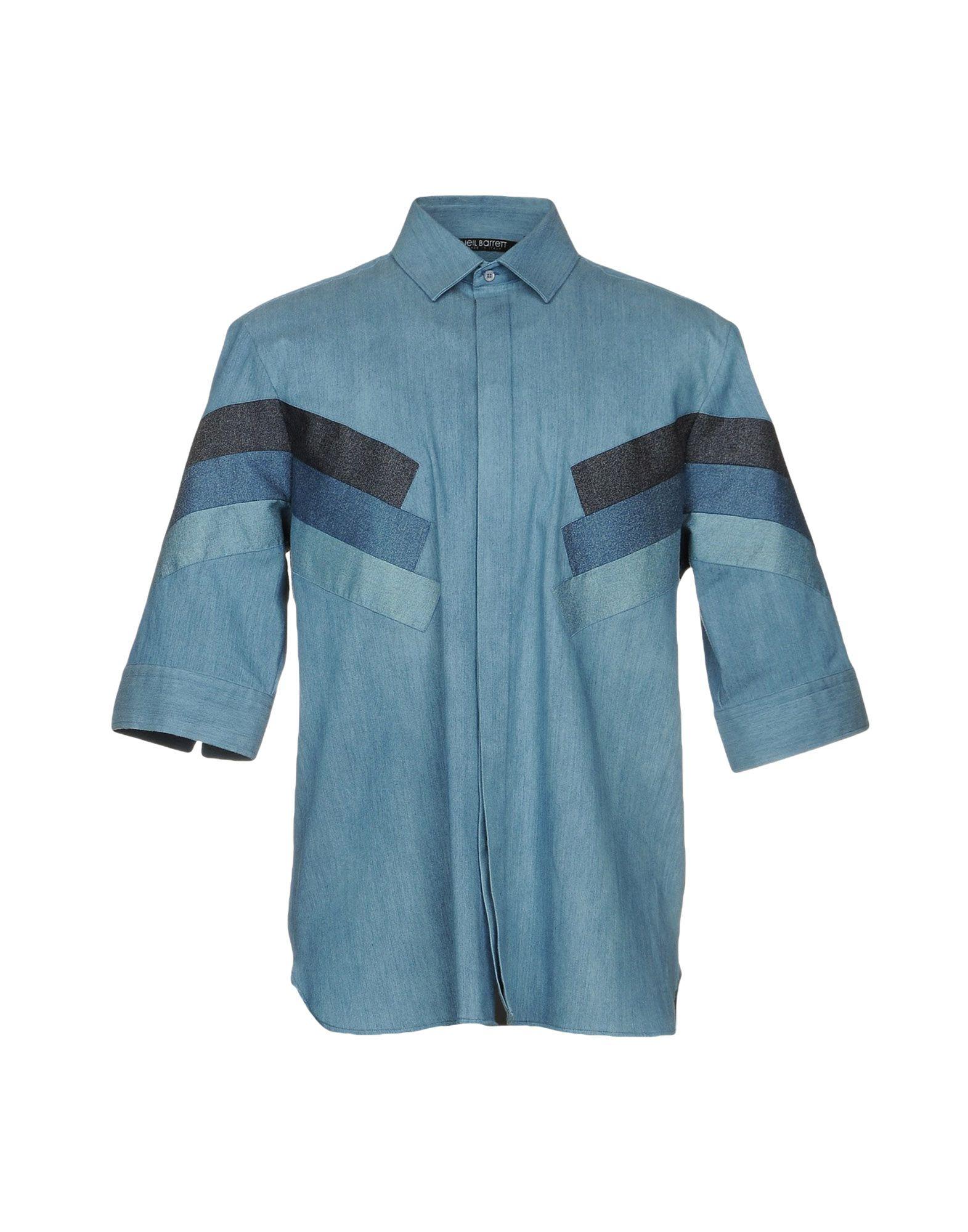NEIL BARRETT Джинсовая рубашка нил янг neil young neil young lp