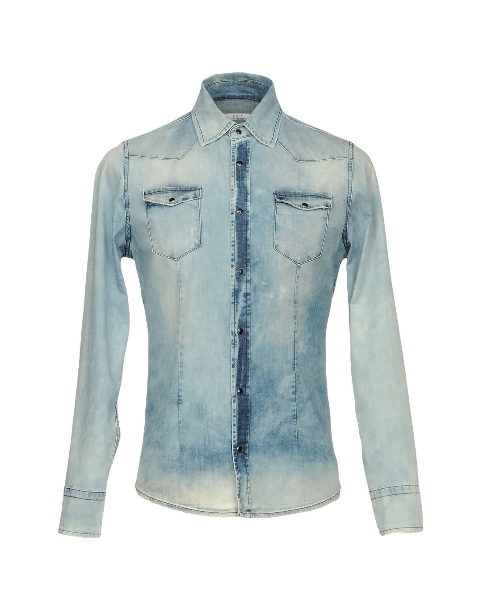 где купить GREY DANIELE ALESSANDRINI Джинсовая рубашка по лучшей цене