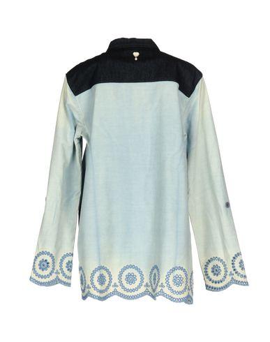Фото 2 - Джинсовая рубашка от TWIN-SET JEANS синего цвета