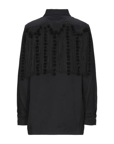 Фото 2 - Джинсовая рубашка черного цвета