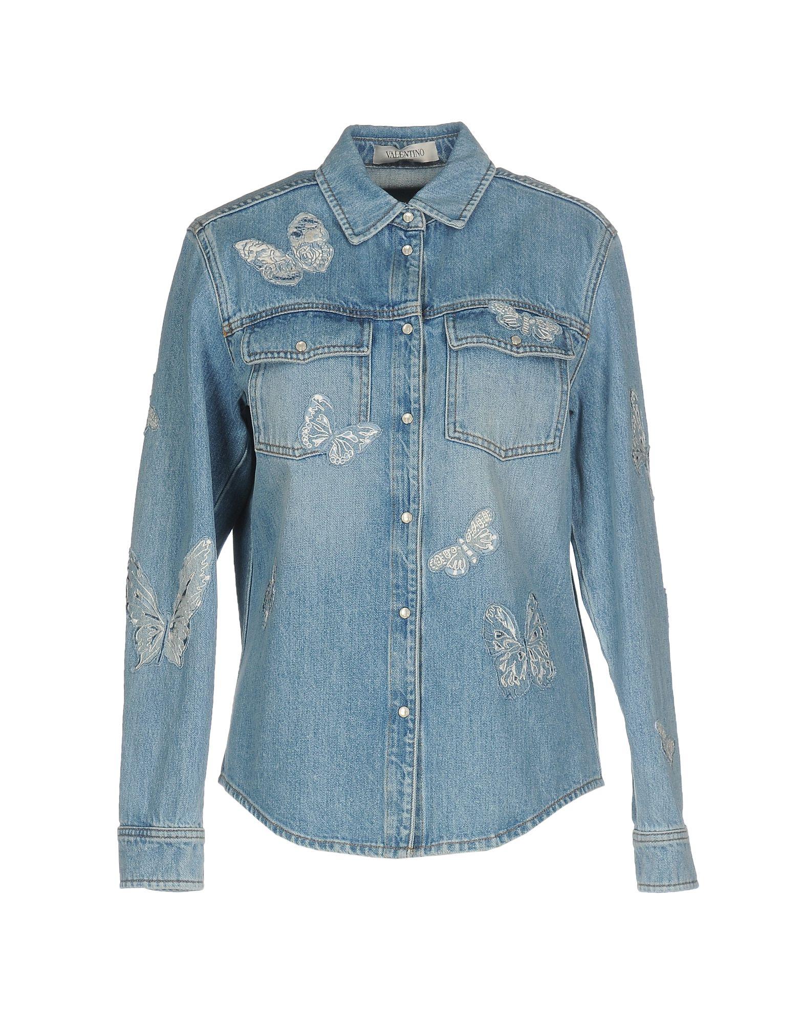 must джинсовая верхняя одежда VALENTINO Джинсовая верхняя одежда