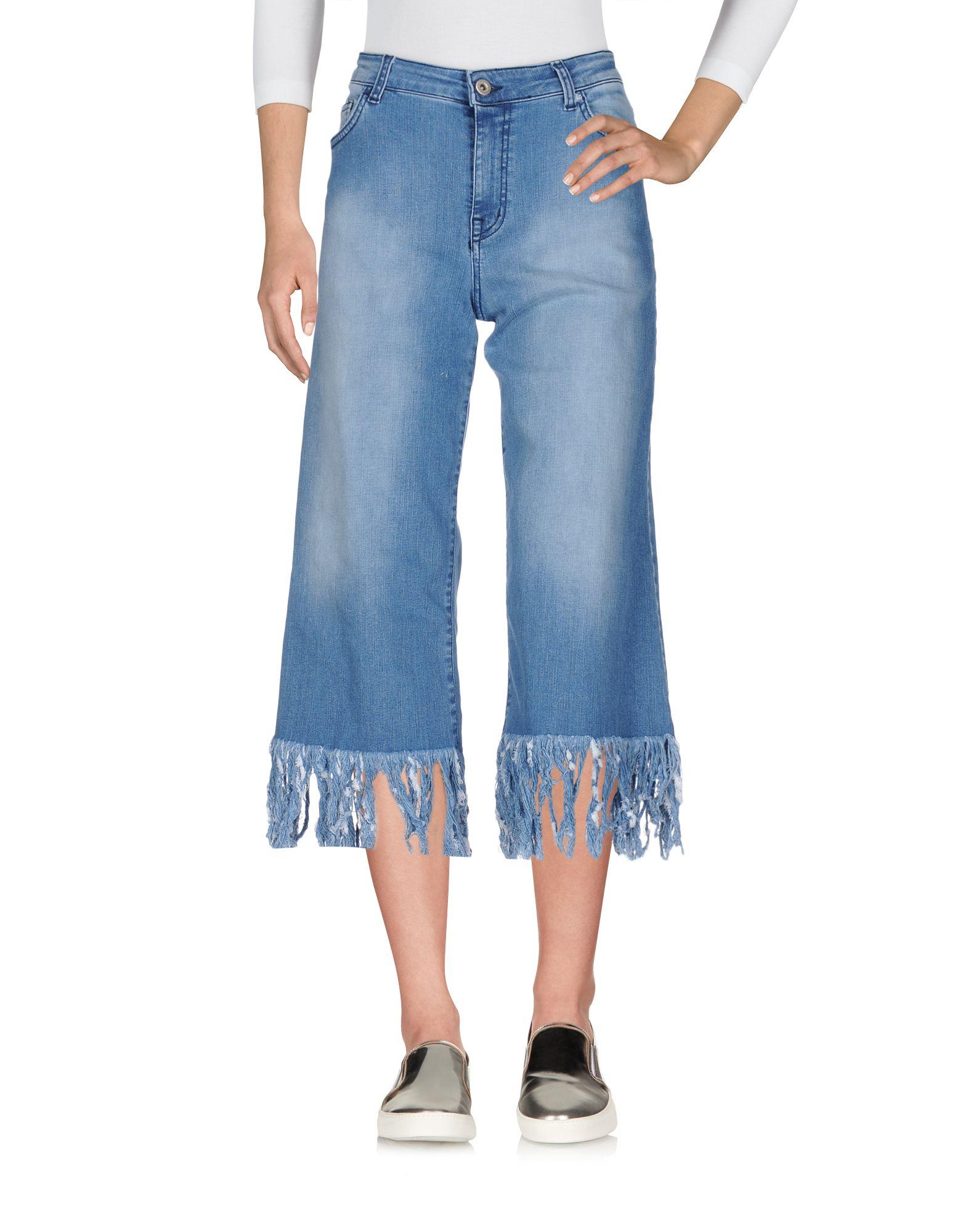 Фото HAPPINESS Джинсовые брюки-капри. Купить с доставкой