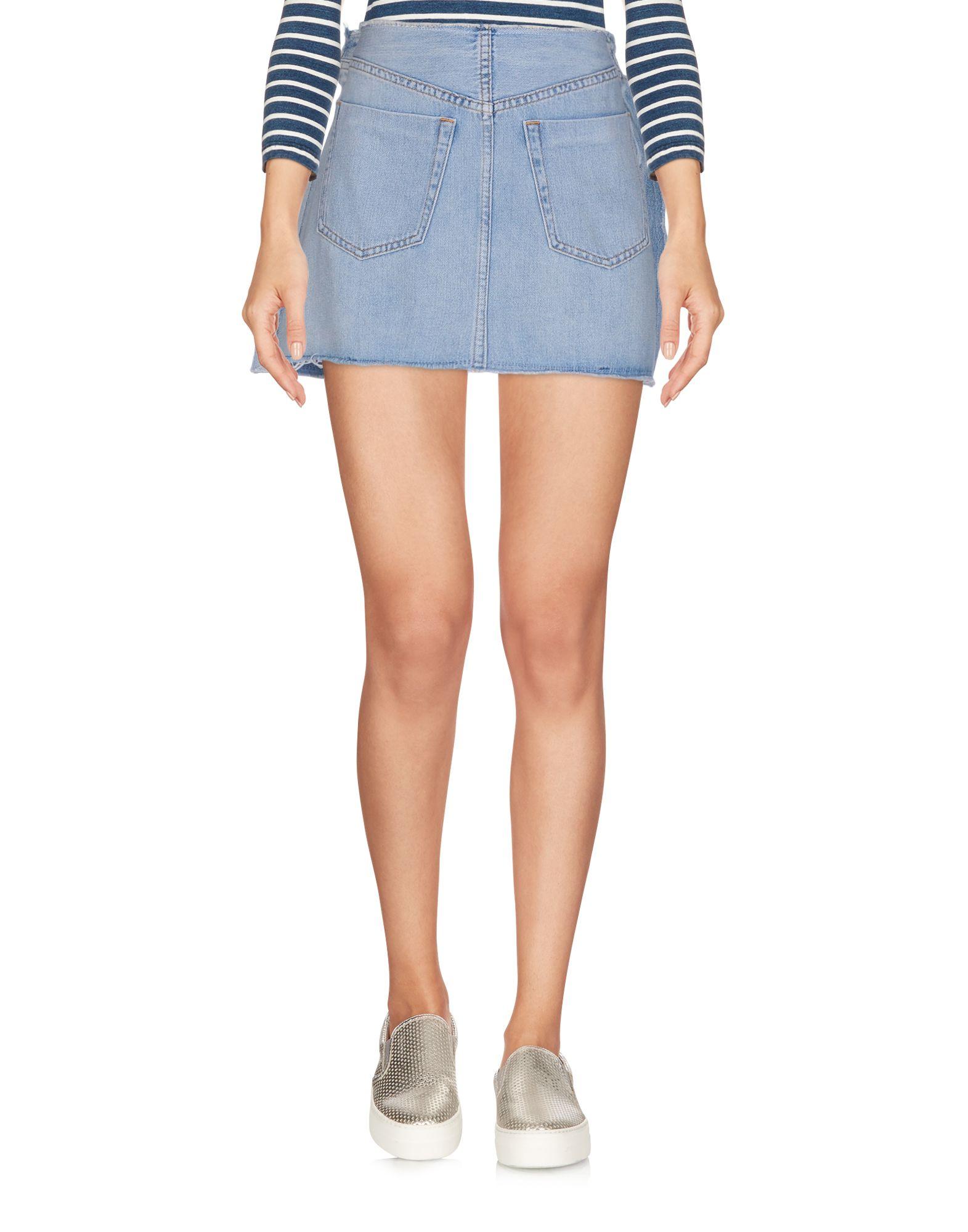 MM6 MAISON MARGIELA Джинсовая юбка mm6 maison margiela джинсовая рубашка