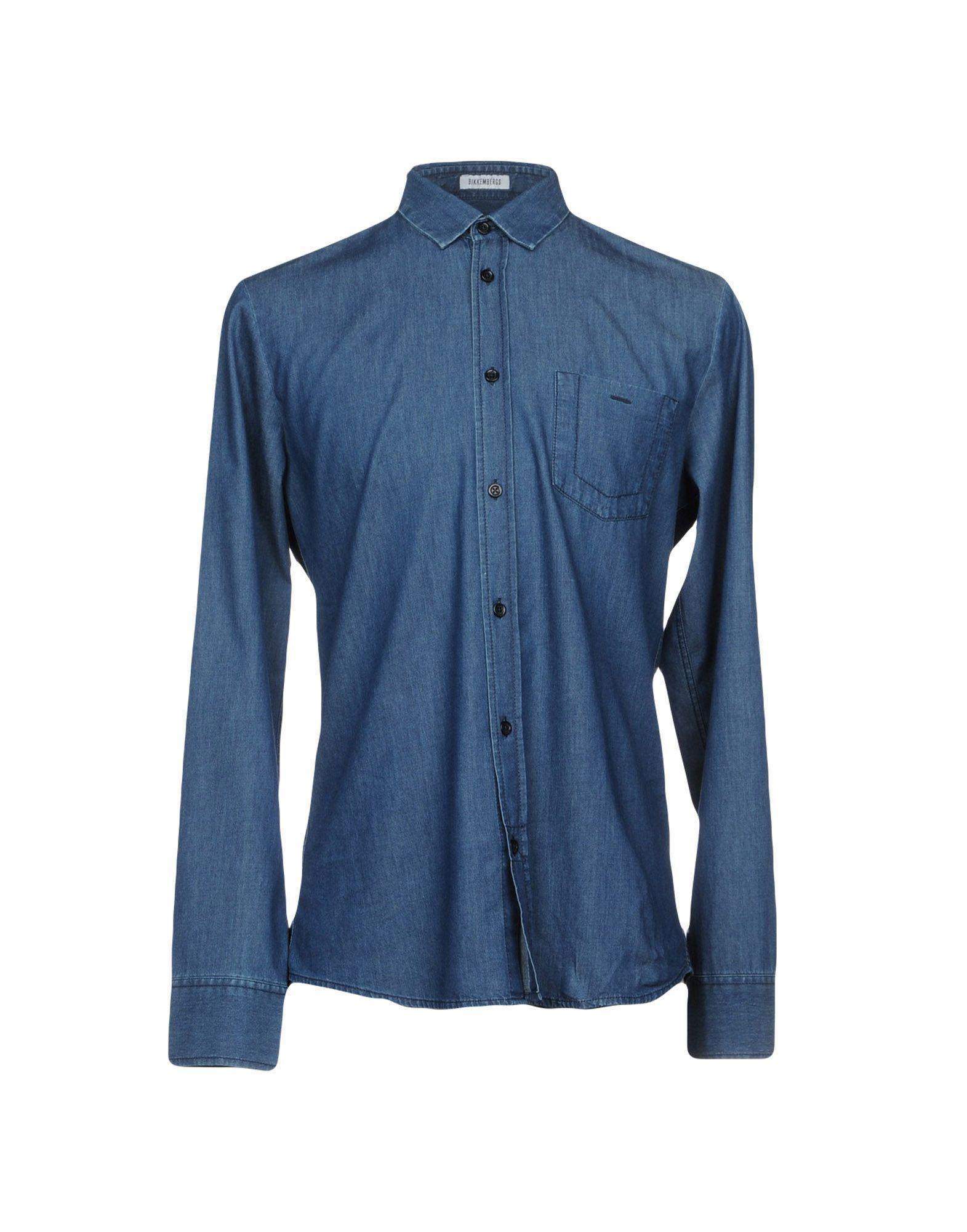 BIKKEMBERGS Джинсовая рубашка