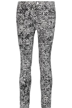 J BRAND Mid-rise printed skinny jeans