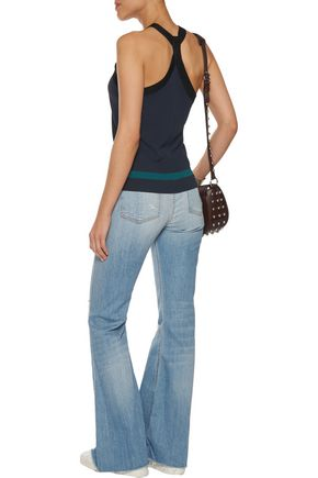 RAG & BONE Beach mid-rise distressed flared jeans