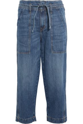 CURRENT/ELLIOTT The Chore cropped wide-leg jeans