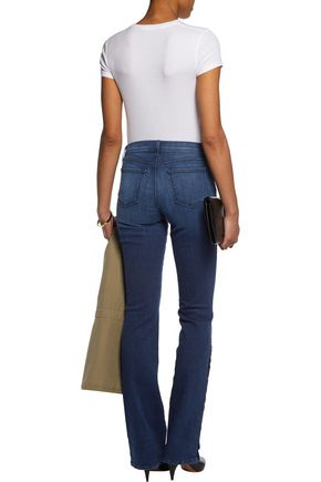 J BRAND Charlene button-embellished mid-rise bootcut jeans