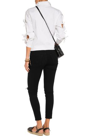 AG Jeans Distressed mid-rise skinny jeans