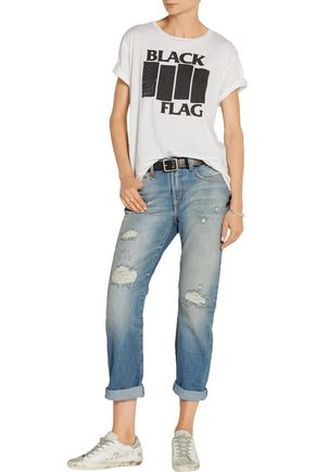 R13 Catherine distressed mid-rise boyfriend jeans
