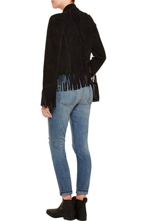 CURRENT/ELLIOTT The Stiletto distressed low-rise skinny jeans