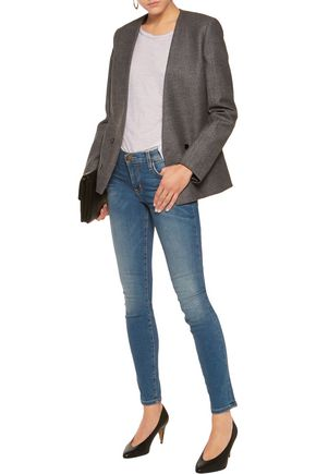 CURRENT/ELLIOTT The Ankle Skinny mid-rise cropped jeans