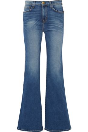 CURRENT/ELLIOTT Mid-rise flared jeans