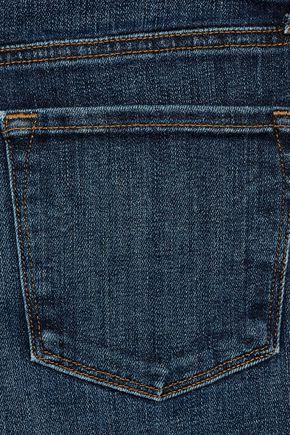 J BRAND Liza mid-rise stretch-denim culottes