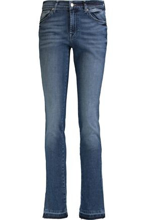 7 FOR ALL MANKIND Roxanne high-rise bootcut jeans ...