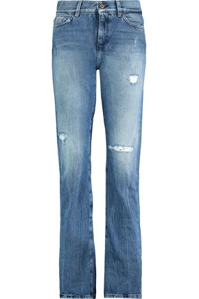 7 FOR ALL MANKIND Roll Up Straight high-rise jeans