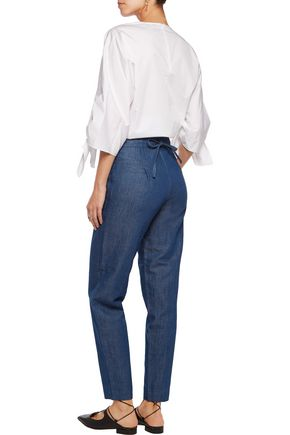 CO High-rise straight-leg jeans