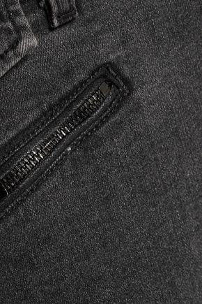 CURRENT/ELLIOTT The Zip Moto mid-rise skinny jeans