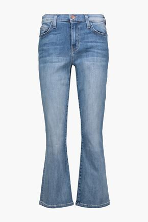 CURRENT/ELLIOTT Cropped mid-rise flared jeans
