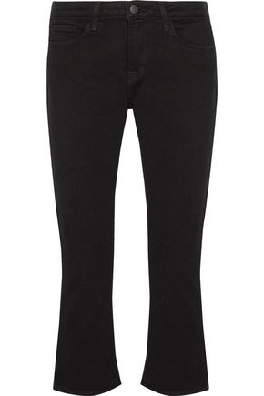 L'AGENCE Charlotte cropped mid-rise flared slim-leg jeans