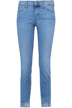 7 FOR ALL MANKIND Mid Rise Roxanne Crop skinny jeans ...