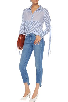 7 FOR ALL MANKIND Mid Rise Roxanne Crop skinny jeans