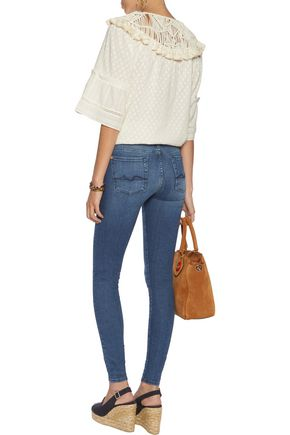 7 FOR ALL MANKIND The Skinny mid-rise whiskered jeans