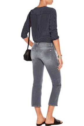 7 FOR ALL MANKIND Mid-rise cropped flared jeans