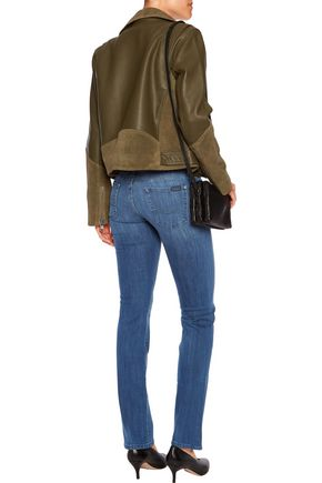 7 FOR ALL MANKIND The Straight low-rise slim-leg jeans