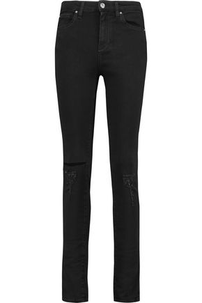 IRO You high-rise distressed skinny jeans