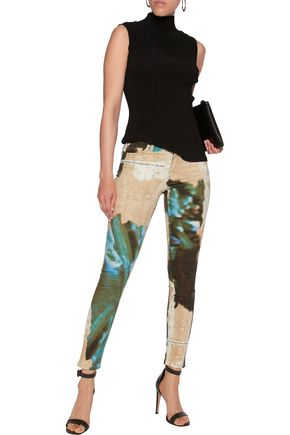 ACNE STUDIOS Printed mid-rise skinny jeans