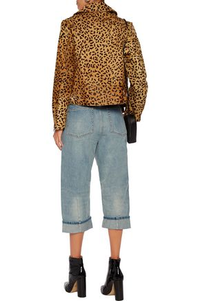 MARC BY MARC JACOBS Big Jean high-rise cropped paneled straight-leg jeans