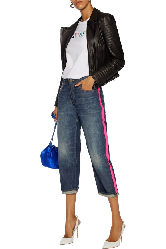 Annie high-rise cropped coated-trimmed straight-leg jeans   MARC BY MARC  JACOBS   Sale up to 70% off   THE OUTNET