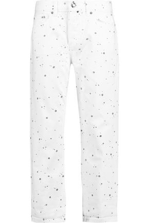 MARC BY MARC JACOBS Annie cropped printed boyfriend jeans