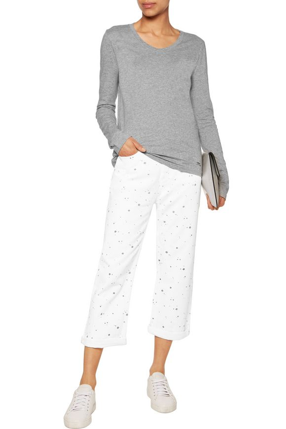 Annie cropped printed boyfriend jeans | MARC BY MARC JACOBS | Sale up to 70%  off | THE OUTNET