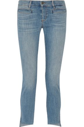 M.I.H JEANS Paris cropped mid-rise skinny jeans
