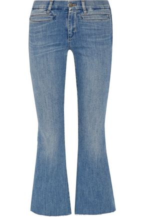 M.I.H JEANS Faded high-rise bootcut jeans