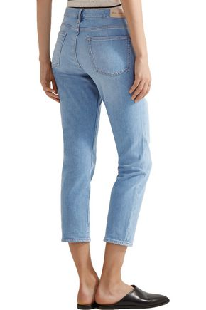 M.I.H JEANS Tomboy cropped mid-rise slim-leg jeans