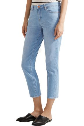 M.I.H JEANS Cropped mid-rise skinny jeans